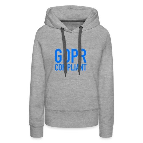 GDPR COMPLIANT - Felpa con cappuccio premium da donna
