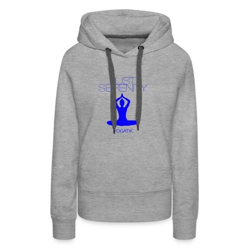 yogatyk blue - Sweat-shirt à capuche Premium pour femmes