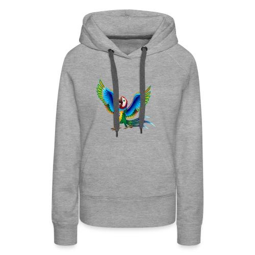 Brazil Flag Papagei - Frauen Premium Hoodie