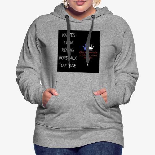 Meilleures villes de France - Sweat-shirt à capuche Premium pour femmes