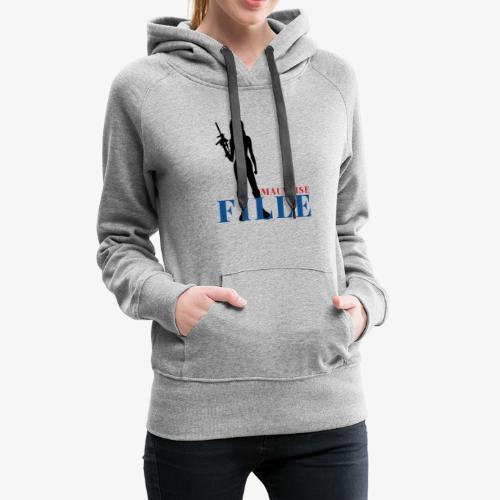 Mauvaise fille (bad girl) - Sweat-shirt à capuche Premium pour femmes