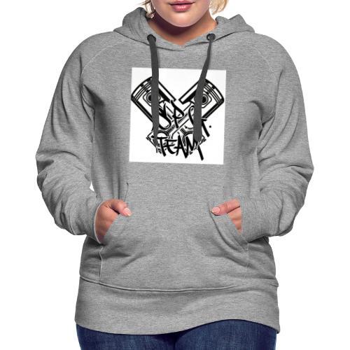 Logo SPG Team - Felpa con cappuccio premium da donna