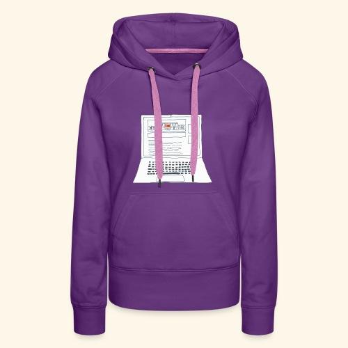 Laptop 20CENT Retail - Sweat-shirt à capuche Premium pour femmes