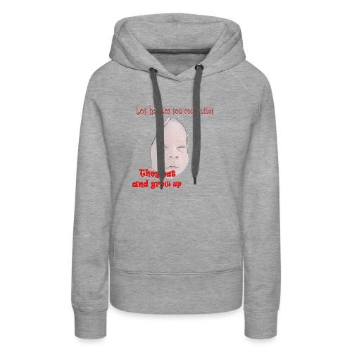 hábitos boy - Sudadera con capucha premium para mujer