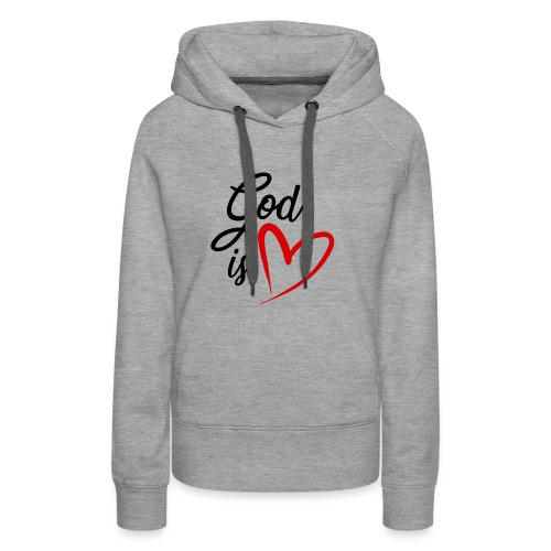 God is love 2N - Felpa con cappuccio premium da donna