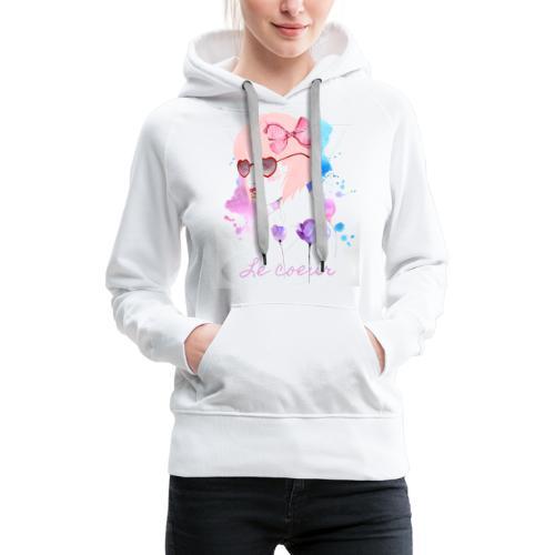 Le coeur - Sweat-shirt à capuche Premium pour femmes