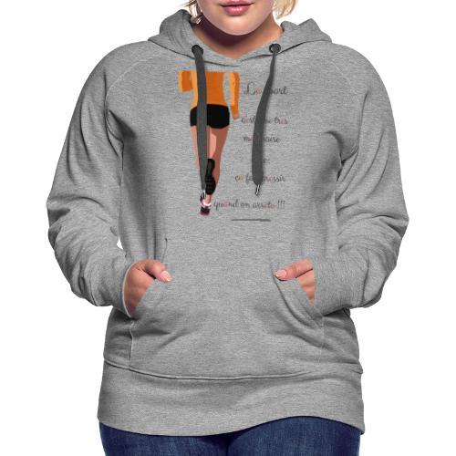 Sport et le régime - Sweat-shirt à capuche Premium pour femmes