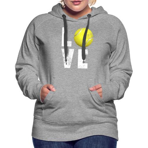 LoveTennis Shirt Ideal Gift For Tennis Players - Sudadera con capucha premium para mujer