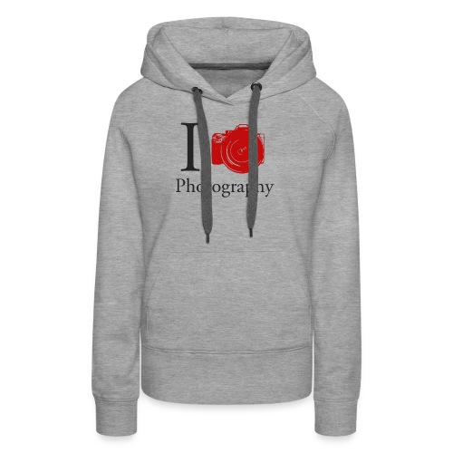 I Love Photography Collection - Frauen Premium Hoodie