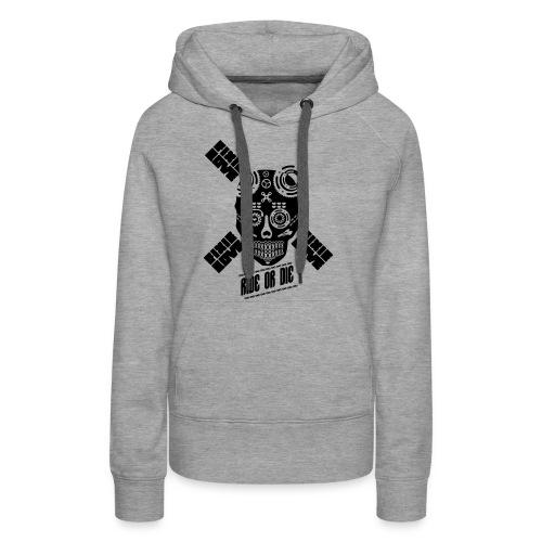 skull riding ride or die - Sweat-shirt à capuche Premium pour femmes
