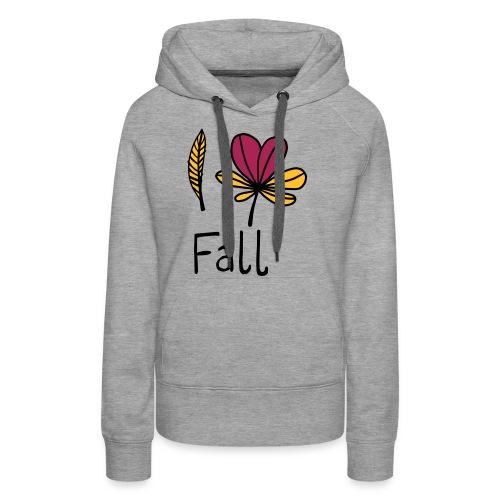Fall in love - Frauen Premium Hoodie