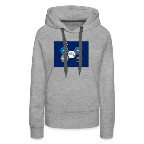 Dive_sleep_repeat_Hexagonal_v1-0_20161118 - Women's Premium Hoodie