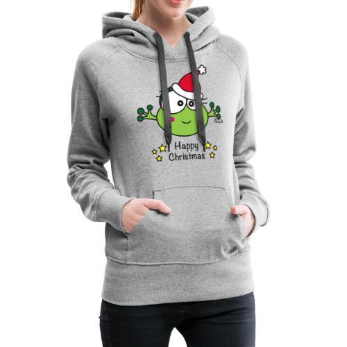 Grenouille F, Frog, Fêtes Nôel, Happy Christmas - Sweat-shirt à capuche Premium pour femmes