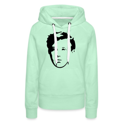 Arthur Rimbaud visage - Sweat-shirt à capuche Premium pour femmes