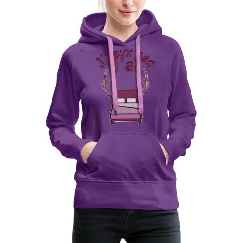 Je peux pas j'ai Lit Corne (Licorne) - Sweat-shirt à capuche Premium pour femmes