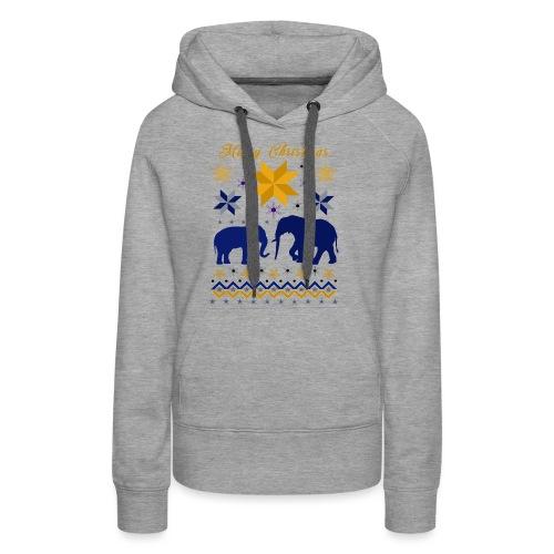 Merry Christmas I Elefanten - Frauen Premium Hoodie