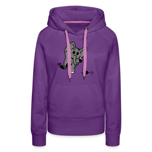 Elefant + Maus - colored - Frauen Premium Hoodie
