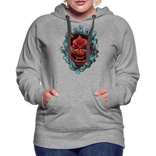 hannya mask - Sudadera con capucha premium para mujer