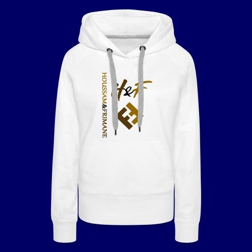 h&F luxury style - Felpa con cappuccio premium da donna