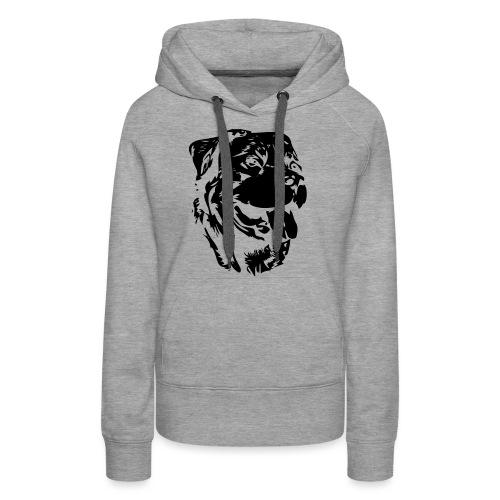 Rottweiler Kopf - Frauen Premium Hoodie