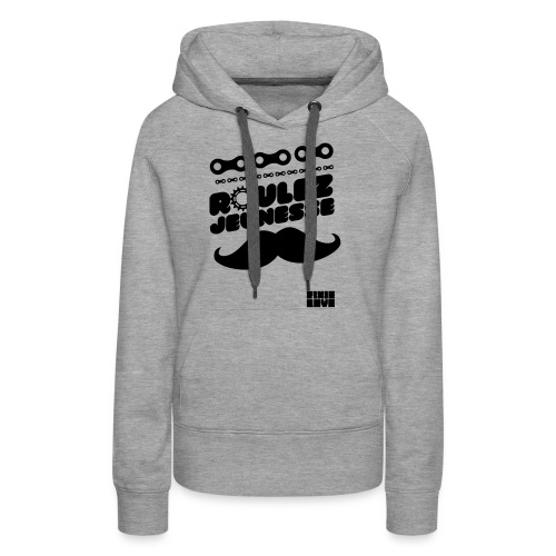 tee-shirt fixie - Sweat-shirt à capuche Premium pour femmes