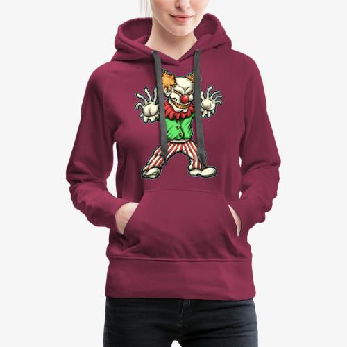 Clown - Sweat-shirt à capuche Premium pour femmes