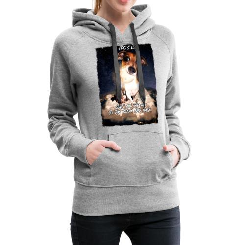 A dog's love - Vrouwen Premium hoodie