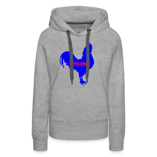 Coq français france - Sweat-shirt à capuche Premium pour femmes