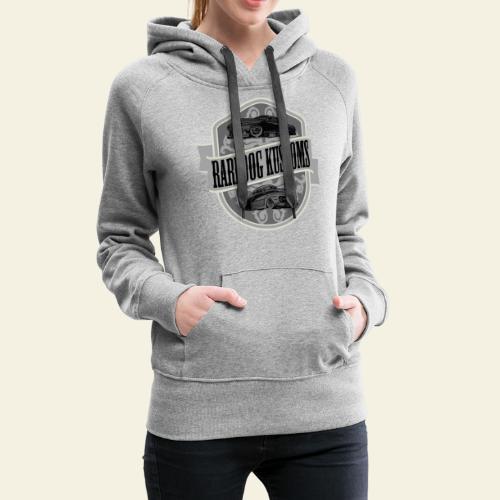rd kustoms gray - Dame Premium hættetrøje