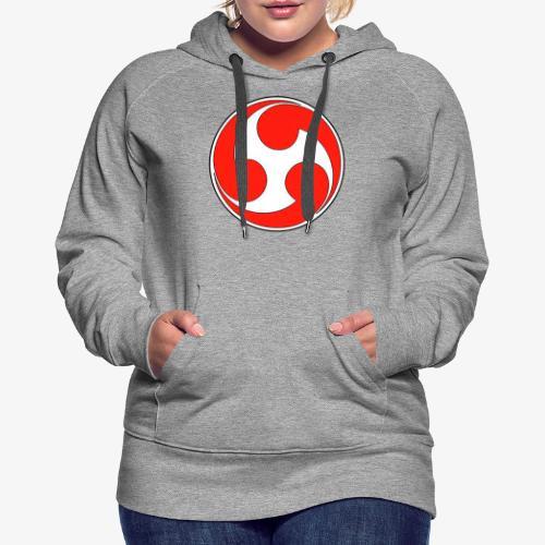 esoteric symbols samurai - Sweat-shirt à capuche Premium pour femmes