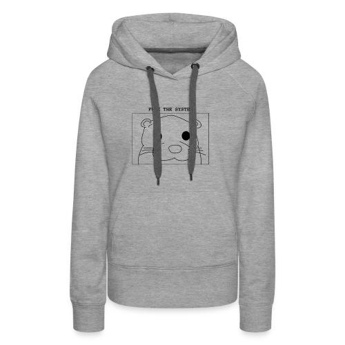 loutre fuck the system / otter fuck the system - Sweat-shirt à capuche Premium pour femmes