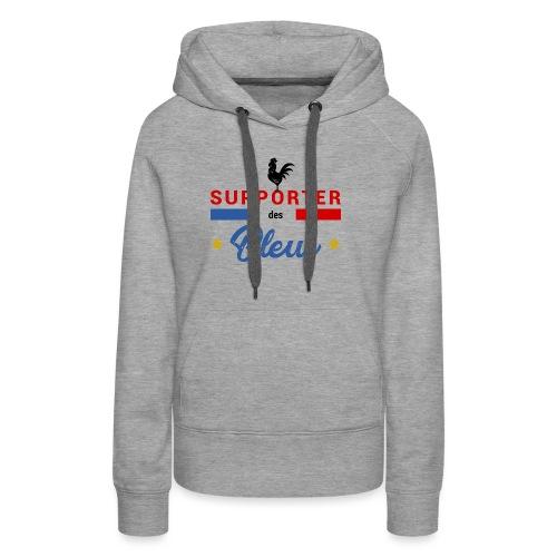 SUPPORTER DES BLEUS - Sweat-shirt à capuche Premium pour femmes