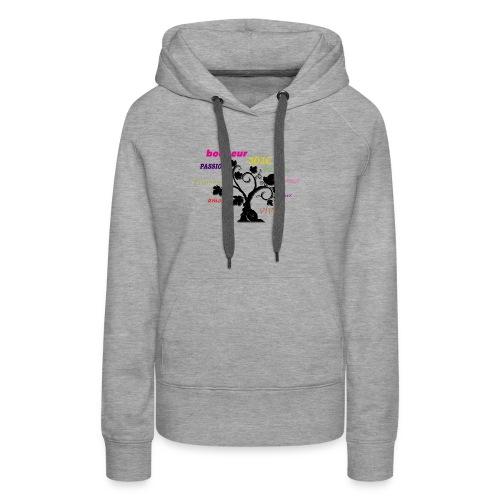 L'arbre de la vie - Sweat-shirt à capuche Premium pour femmes
