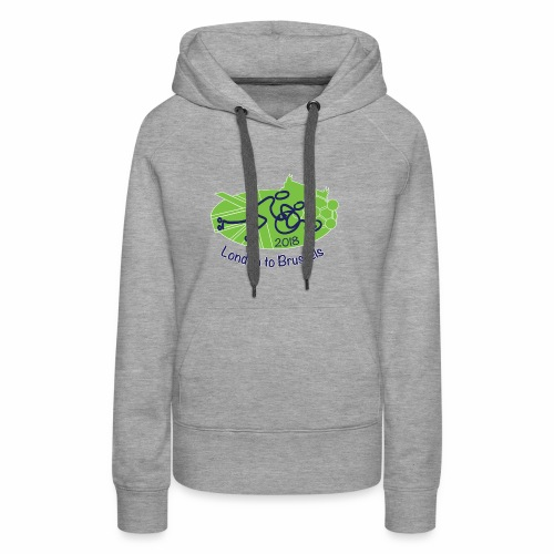 London Brussels 2018 - Sweat-shirt à capuche Premium pour femmes
