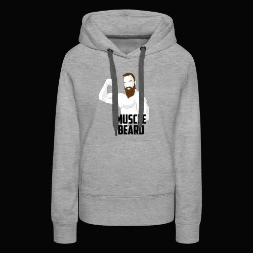 Muscle beard pose vest - Women's Premium Hoodie