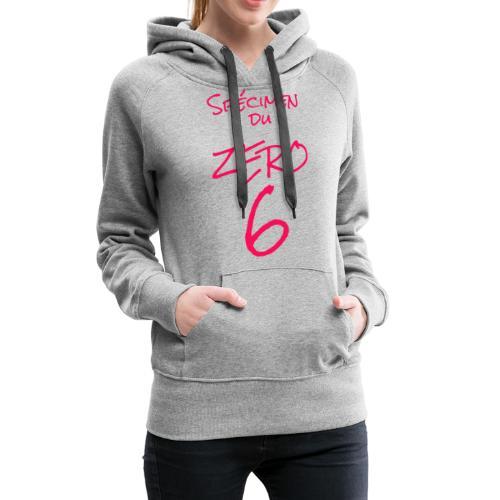Spécimen du zero 6 - Sweat-shirt à capuche Premium pour femmes