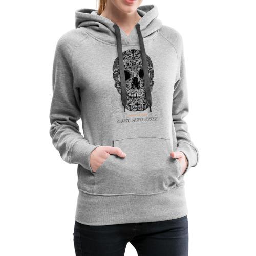 Chicano Style, Motorrad Rocker Skull Totenkopf HD - Frauen Premium Hoodie