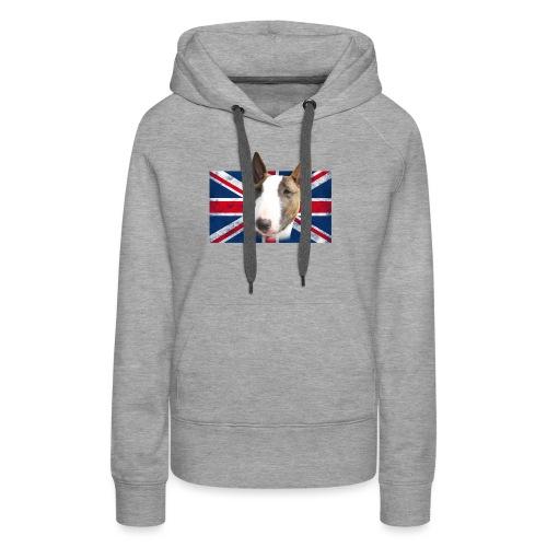 Bullterrier UK grunge Flag - Frauen Premium Hoodie