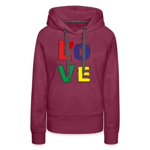 LOVE - Frauen Premium Hoodie
