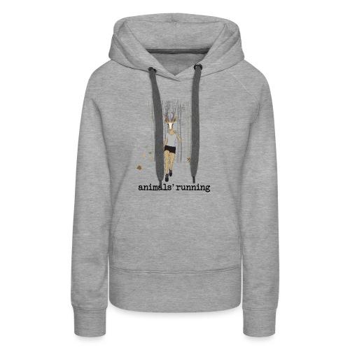 Antilope running - Sweat-shirt à capuche Premium pour femmes
