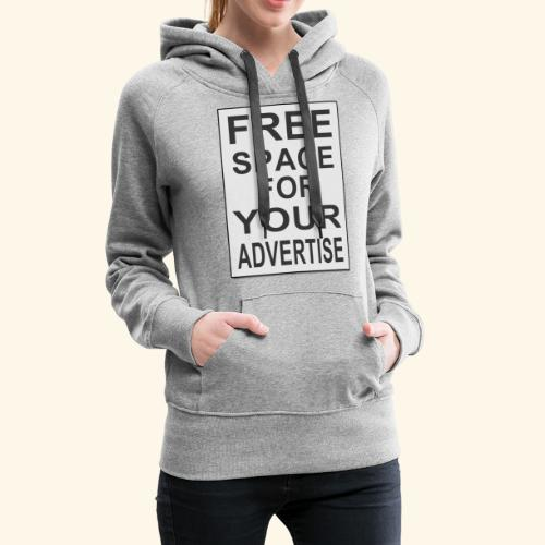 Free space for your advertise - Women's Premium Hoodie