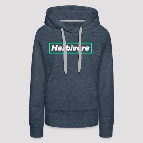 Herbivore Logo White - Felpa con cappuccio premium da donna