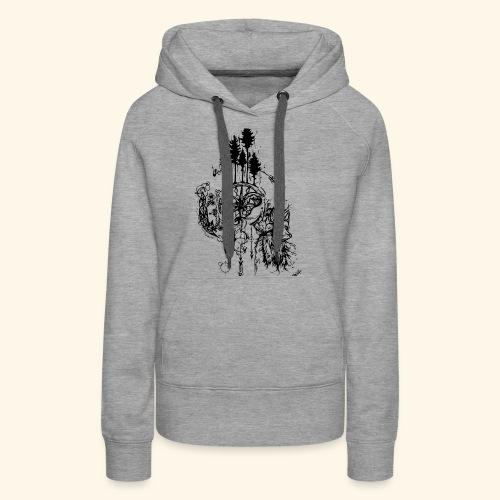 renard nature - Sweat-shirt à capuche Premium pour femmes