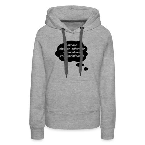 peace-justice_vereinfacht - Frauen Premium Hoodie