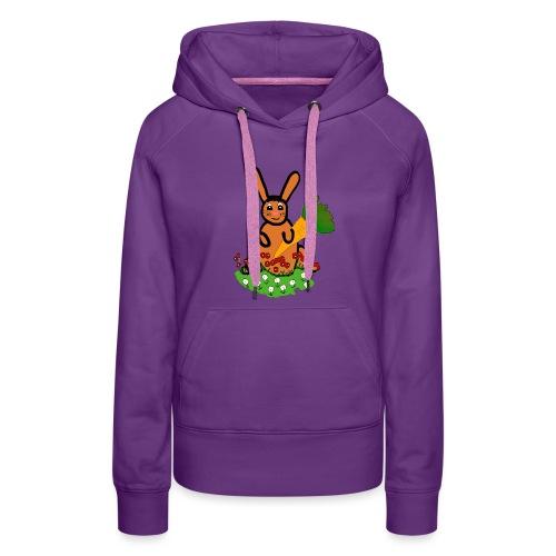 Rabbit with carrot - Women's Premium Hoodie
