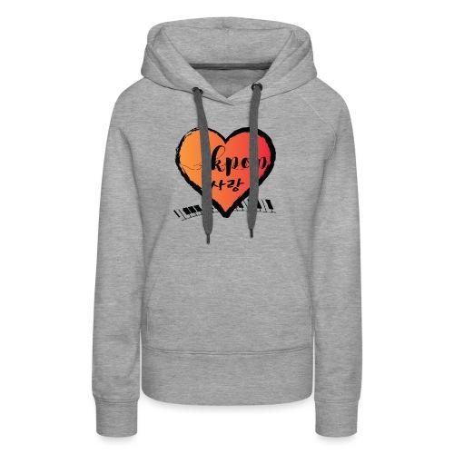 KPOP SARANG heart - Women's Premium Hoodie
