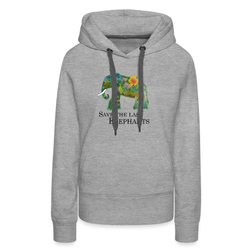 Save The Last Elephants - Frauen Premium Hoodie