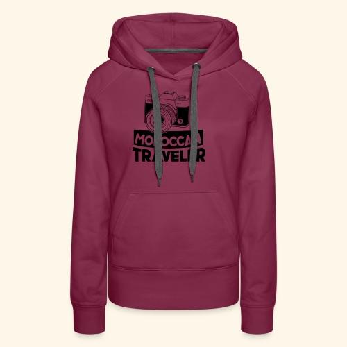 Moroccan Traveler - Sweat-shirt à capuche Premium pour femmes