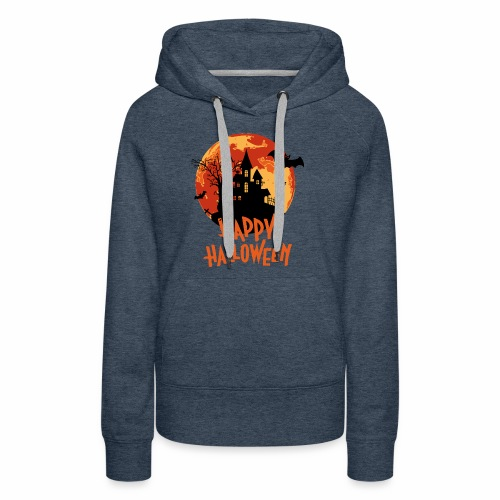 Bloodmoon Haunted House Halloween Design - Frauen Premium Hoodie