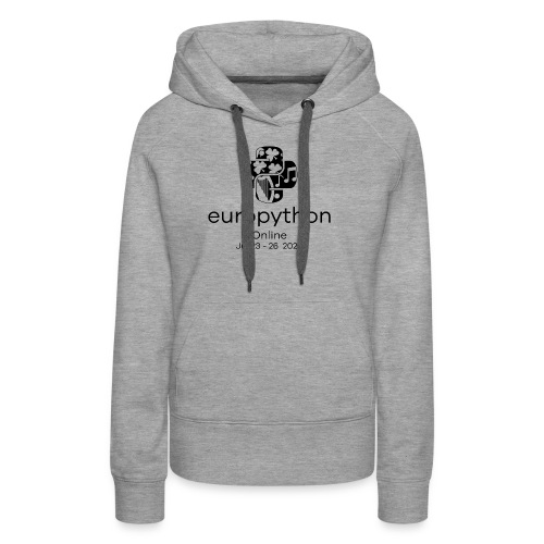 EuroPython 2020 - Vertical Black Logo - Women's Premium Hoodie